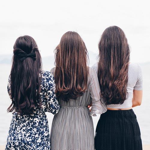 Drei Models bei OHH-LALA Haarmoden